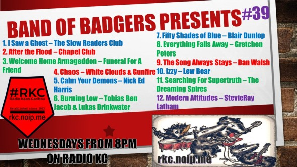 Band of BADGERS PRESENTS PLAYLIST 39