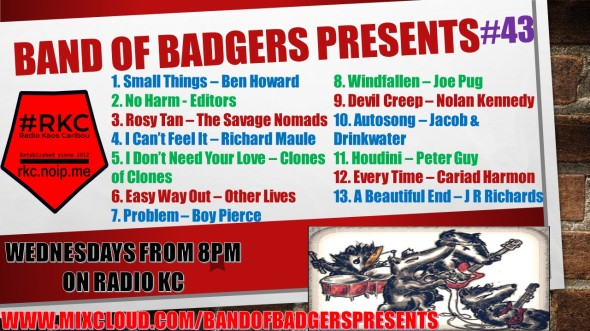 Band of BADGERS PRESENTS PLAYLIST PODCAST 43 PROMO