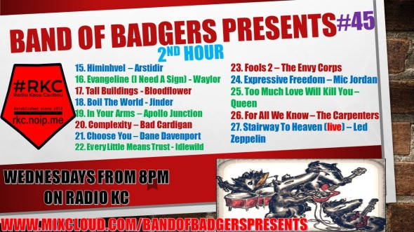 Band of BADGERS PRESENTS PLAYLIST PODCAST 45 hour 2 PROMO