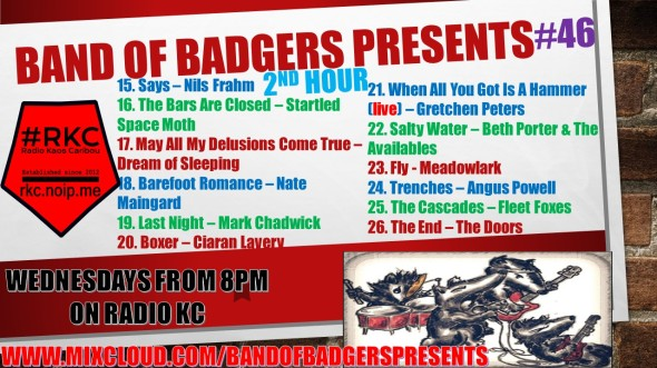 Band of BADGERS PRESENTS PLAYLIST PODCAST 46 hour 2 PROMO