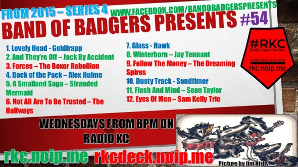 Band of BADGERS PRESENTS PLAYLIST 54