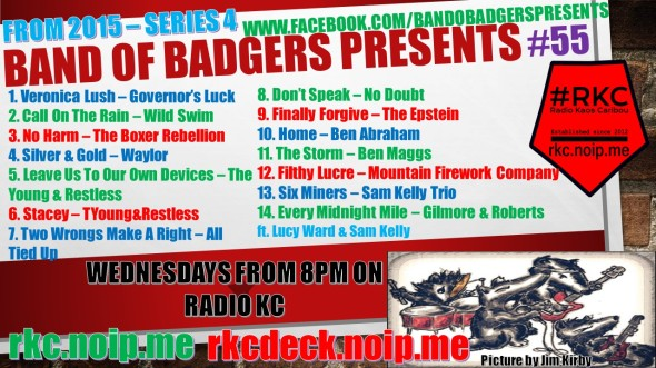 Band of BADGERS PRESENTS PLAYLIST 55