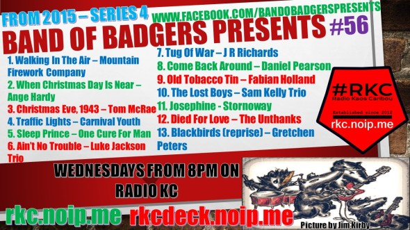 Band of BADGERS PRESENTS PLAYLIST 56